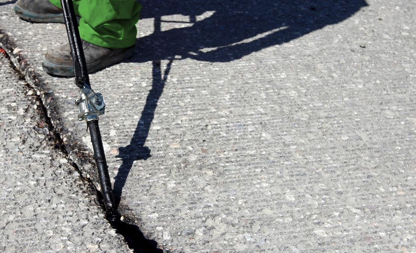 Parking Lot Services of Florida Offers Pavement Crack Filling