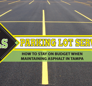 maintaining asphalt in Tampa - parking lot